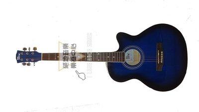 絕地音樂樂器中心 BIG NOISE入門必備吉他 藍色