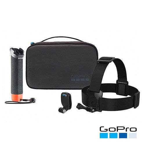 GoPro 原廠 探險套組 漂浮握把 頭帶 QuickClip 精巧收納盒 手轉螺絲 台南PQS