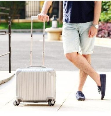 ZIHOPE 拉桿箱18寸小型迷你行李箱登機箱旅行箱萬向輪男密碼皮箱子ZI812