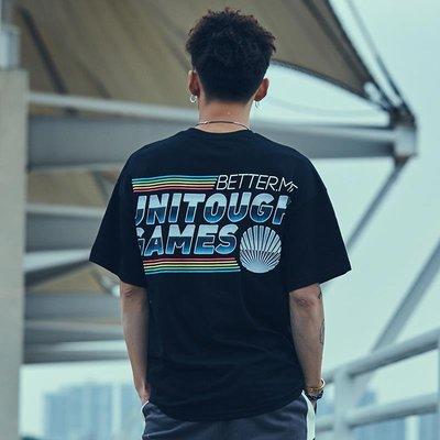 『W.A 型男基地』新品街頭潮流t恤男短袖個性潮牌嘻哈蝙蝠衫學生oversize歐美體恤