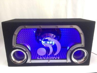 震撼立音響 美國 MASSIVE 12吋 1000w雙磁雙音圈 含專用音箱 比賽級精選