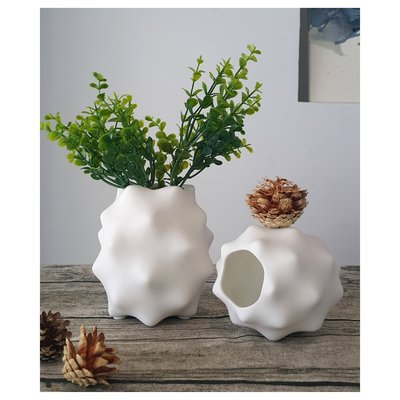 【現貨】陶瓷 造型花瓶(中)  質感白 昌侑藝術CHY畫廊