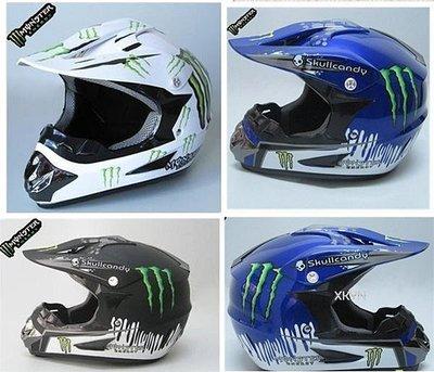 越野頭盔 鬼爪 全盔 Monster 川崎賽車頭盔 摩托車頭盔越野騎行安全帽機車帽騎士頭盔