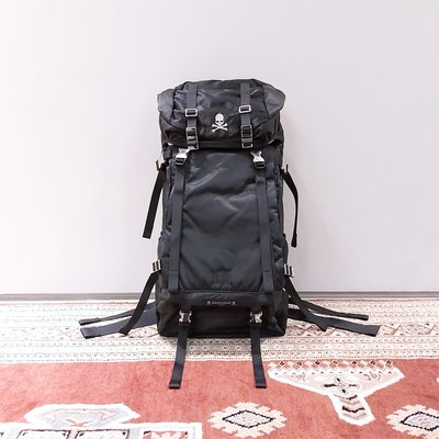 [ VINTAGE ] PORTER x MASTERMIND JAPAN BACKPACK 黑色尼龍大型後背包 MMJ