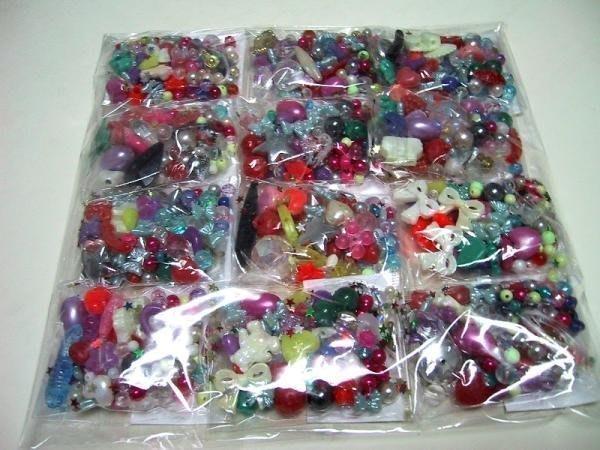 美勞教室【U-Bi小舖】混合款-DIY串珠珠《每包都有附尼龍線+環扣組》10小包/一套