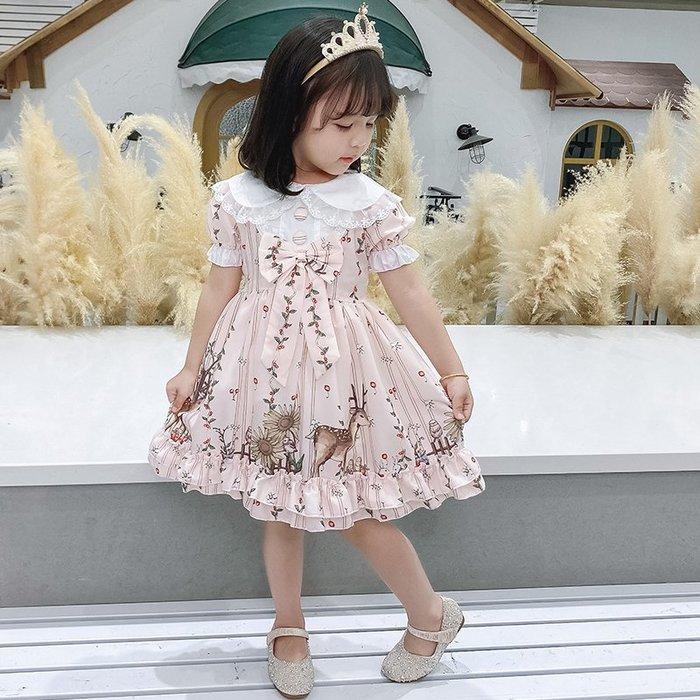•*~ 辣媽咪衣飾小舖 ~*•❤童裝系列❤K080322韓版兒童夏款甜美夢幻夢蘿莉洛麗塔氣質公主裙洋裝