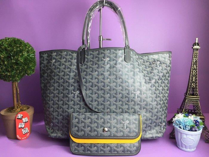 《真愛名牌精品》GOYARD 灰色 購物包 肩背包St. Louis 購物包 PM *全新*代購