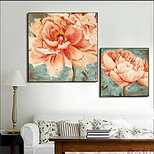 家居飾品裝飾畫牡丹花卉現代裝飾畫客廳沙發牆畫餐廳壁畫玄關掛畫(三款可選)