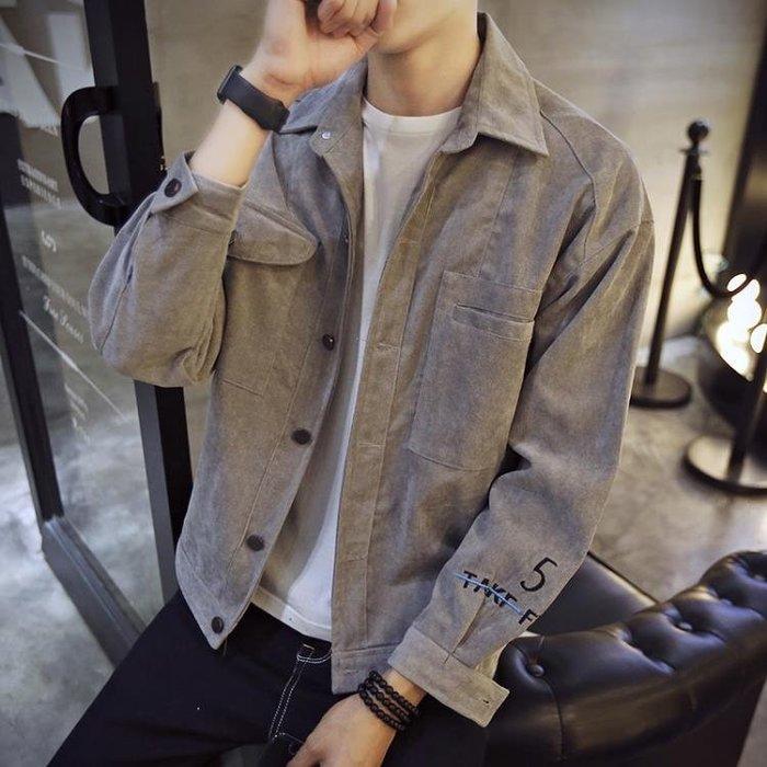 外套男士韓版帥氣潮流修身百搭牛仔夾克男裝