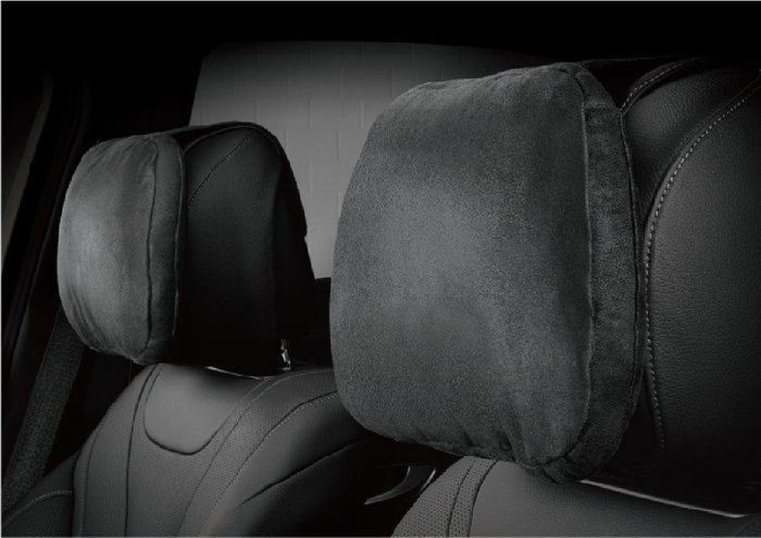 3D 卡固 全車係 通用 M-Benz 賓士 麂皮絨 舒適 頭枕 氣室回彈 舒適釋壓 黑 灰 米 三色可選