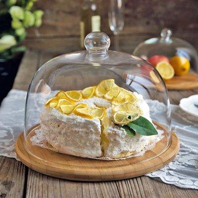 韓版韓系韓國 日系 歐性感個性 廚房西式蛋糕罩木質透明玻璃蓋西點托盤家用蛋糕盤水果甜點