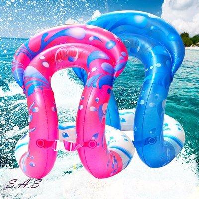 SAS 雙氣囊背心泳圈 泳圈 手臂圈 背心式泳圈 PVC印花游泳圈 兒童泳圈 成人泳圈【920O】