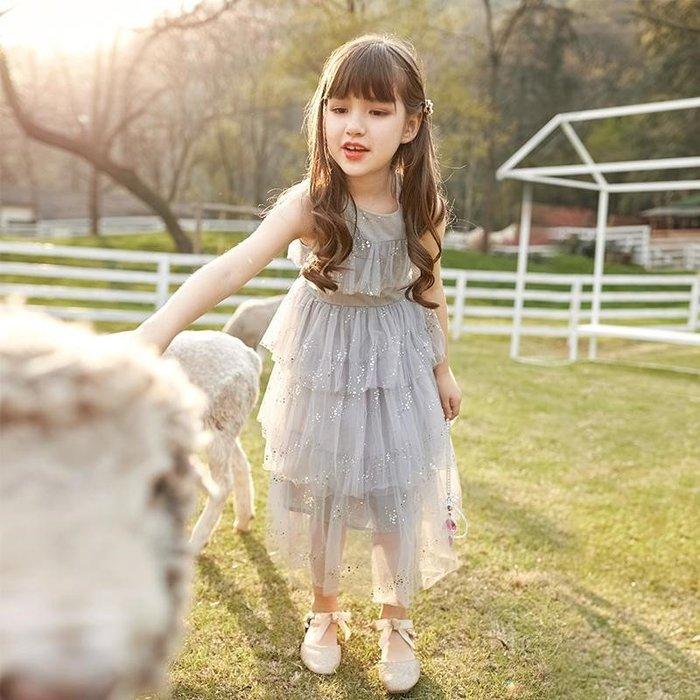 •*~ 辣媽咪衣飾小舖 ~*•❤童裝系列❤K850232韓版大童夏款甜美小女孩蛋糕裙蓬蓬紗裙洋裝