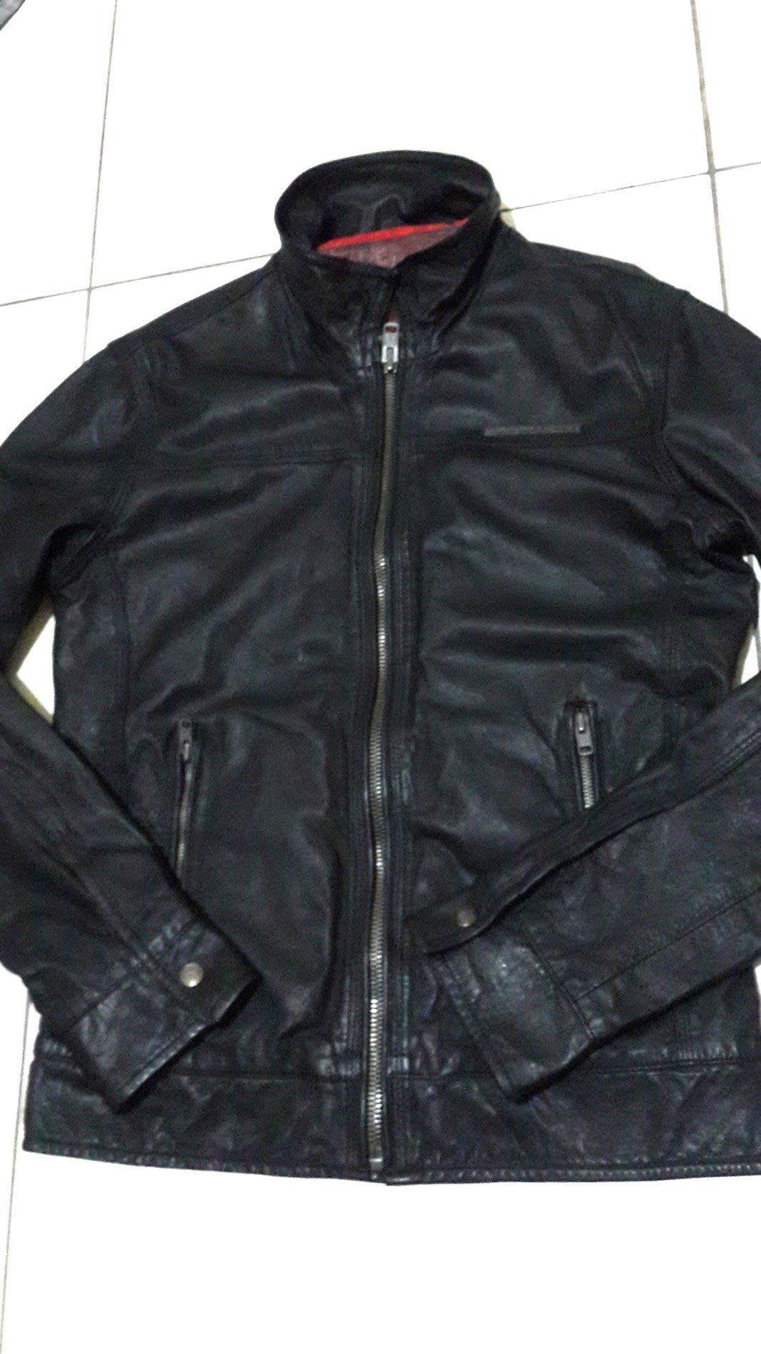極度乾燥 Superdry. Speedway Leather Jacket 經典高價款立領皮衣.絕版深咖啡.M號.真品