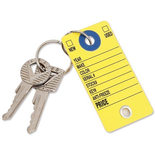 (I LOVE樂多)美國進口 Cardboard Key Tag 車輛辨識鑰匙圈標籤