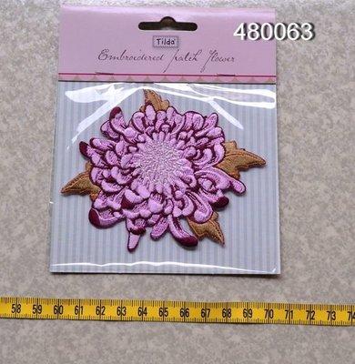 *巧巧布拼布屋*北歐挪威Tilda進口紫菊花布製徽章#480063Diy商品