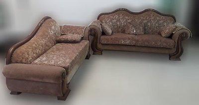 台中2手傢俱【樂居二手家具館】A0720AJJB 歐式L型布沙發 客廳椅 客廳家具 2手桌椅拍賣 辦公桌 書桌
