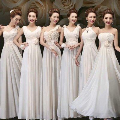 天使佳人婚紗禮服旗袍~~~~雪紡紗長版齊地晚禮服伴娘服