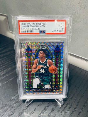 Giannis 字母哥 2019 Mosaic Stained Glass  PSA 9 馬賽克 教堂
