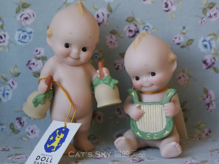《Cat Sky》日本Kewpie音樂系列.手搖鈴陶瓷Q比娃娃.聖誕節特價/情人節禮物