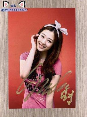 韓國明星FX F(X)組合 崔雪莉Sulli親筆簽名照片新款熱門❤偶家周邊