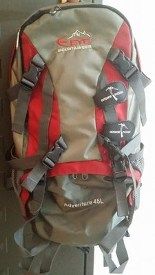 好便宜【MountainTop】45L弓型網架登山背包EYE478 華冠EYE弓型網背包(磚紅) 後背包 露營
