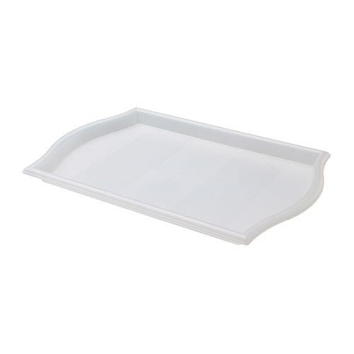 ☆創意生活精品☆IKEA SMULA  托盤(白色透明) 52*35cm