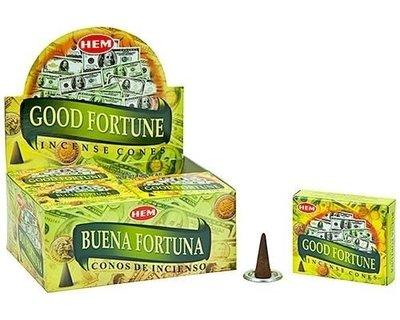 [綺異館] 印度香 好運塔香 10入 /盒 招好運 招財 HEM Good Fortune cone