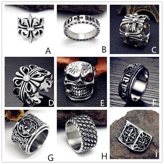 日韓男士潮人個性鈦鋼戒指復古霸氣正韓單身食指十字夸張朋克指環