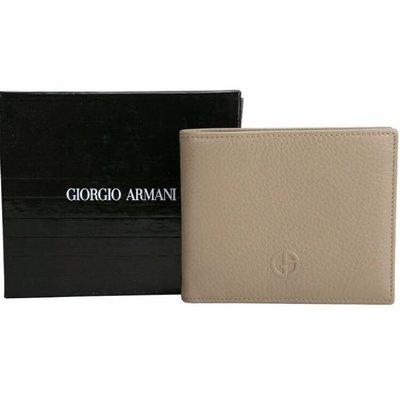 GIORGIO ARMANI BI-FOLD 牛皮對折短夾  男士/男仕/男用/皮夾