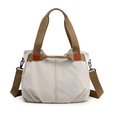 手提包帆布肩背包-復古時尚簡約百搭女包包14色73wa41[獨家進口][米蘭精品]