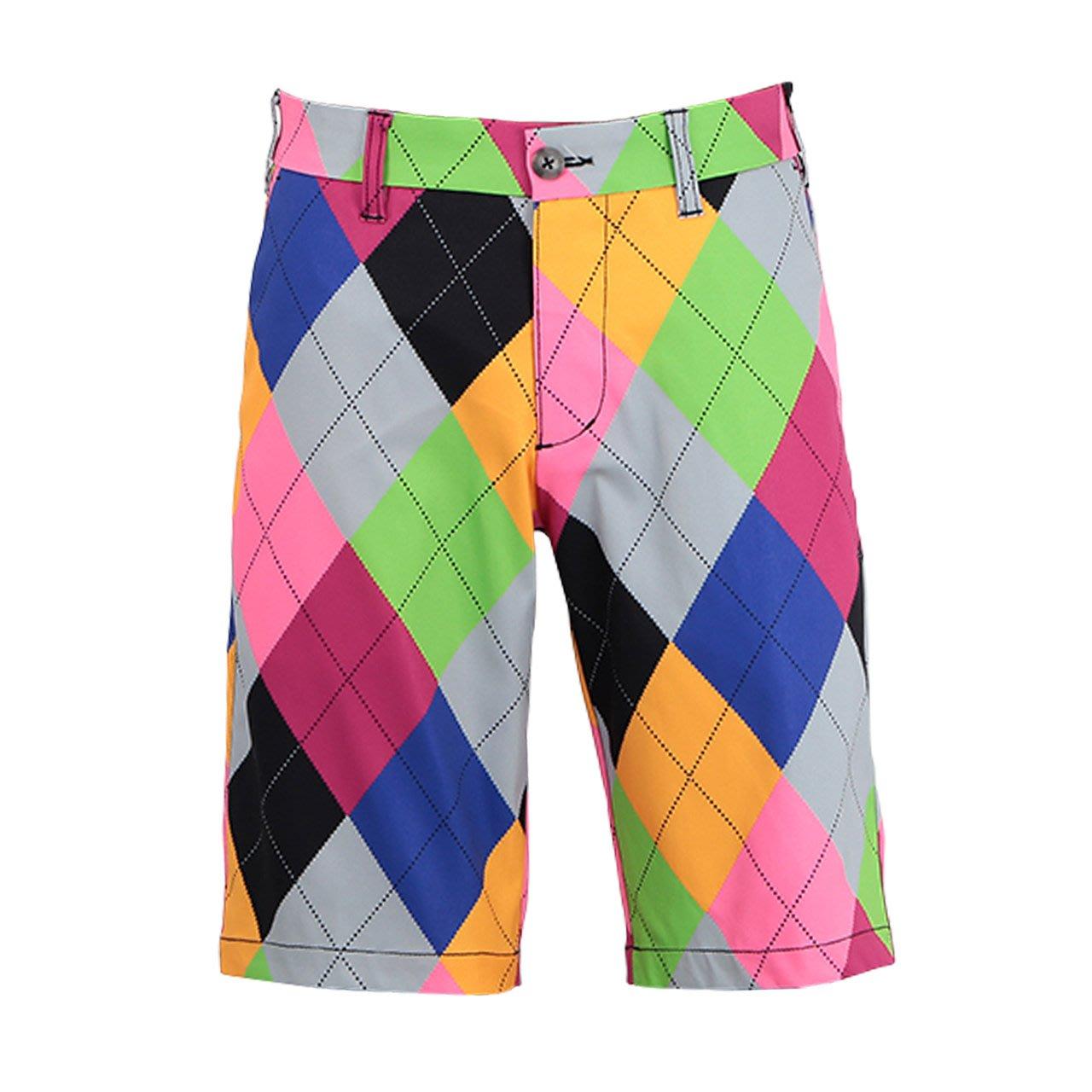 100%正品日本原裝進口LoudMouth當季最新高爾夫短褲 彩色菱格
