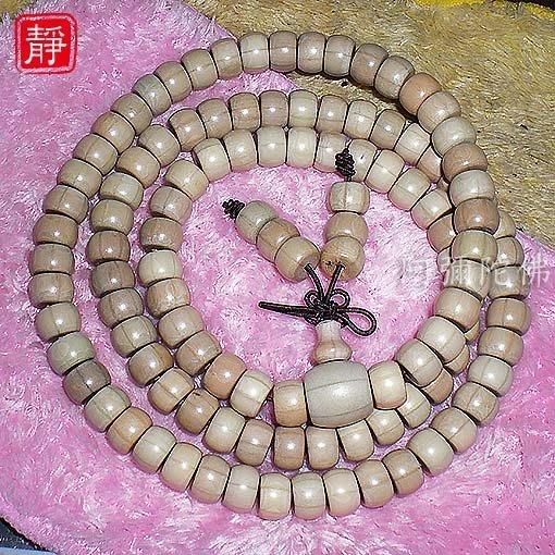 【靜心堂】現貨:五台山六道木佛珠--六條紋降龍木(7*9mm*108顆)