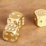 現貨 BC-056 大號 黃銅骰子色子 創意個性麻將色子 酒吧夜店骰盅 篩子 甩子 黃銅手把件 土豪金禮品 實心色子