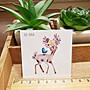 【萌古屋】花朵小鹿單圖CC-053 - 防水紋身貼紙刺青貼紙K37