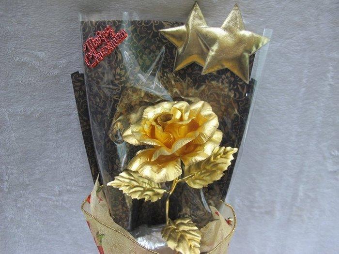 二手舖~24K金箔玫瑰花