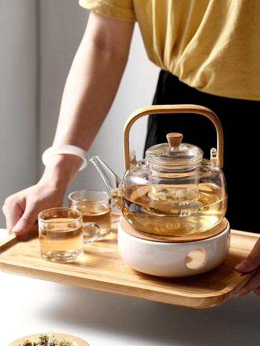 日式家用加厚玻璃茶壺竹提梁壺耐熱燒水泡茶過濾電陶爐煮功夫花茶玻璃水杯 陶瓷水杯 保溫杯 熱賣 保溫瓶 隨身杯 茶杯