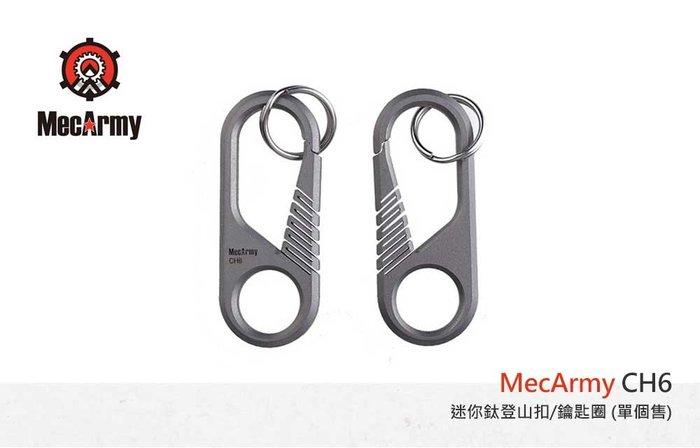 【angel 精品館 】MecArmy CH6 迷你鈦登山扣/鑰匙圈(單個販售)