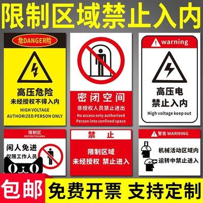 聚吉小屋 #密閉空間禁止入內警示牌高壓...