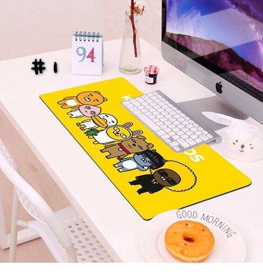 韓國 Kakao Friends 萊恩 屁桃 PVC 滑鼠墊  防滑 加大 桌墊 600x300x3mm 現貨 3款