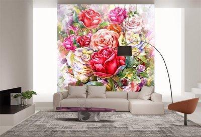 客製化壁貼 店面保障 編號F-130 水彩花卉 壁紙 牆貼 牆紙 壁畫 星瑞 shing ruei