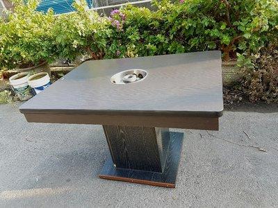 彰化二手貨中心(原線東路二手貨) -- 4呎胡桃木 火鍋桌  單口火鍋桌