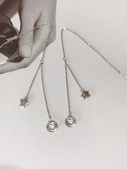 *金色風暴*~ 義大利750K金 ~ 穿拉星星耳環 ~ k金耳環,不褪色,不過敏,送禮,送人