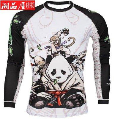 現貨~Tatami 熊貓Gentle Panda Rash Guard UFC塑身MMA速乾猴子防磨衣