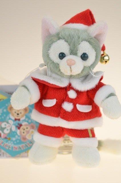 尼德斯Nydus~* 東京迪士尼海洋 達菲熊 Gelatoni 傑拉托尼 畫家貓 傑拉貓 聖誕節限定吊飾 約15cm