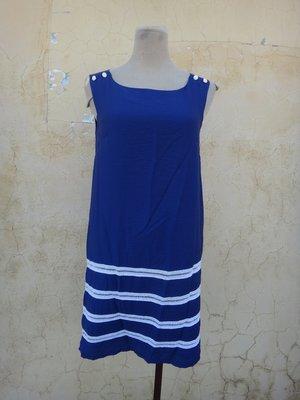 jacob00765100 ~ 正品 SINGLE NOBLE 獨身貴族 藍色 美洋裝 size: 36