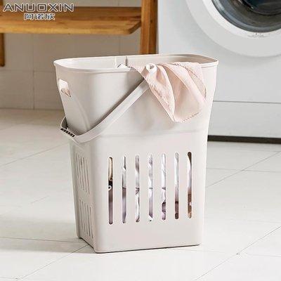 髒衣服收納筐髒衣洗衣籃手提浴室洗澡框婁日式藍簍塑料衣物髒衣籃RM