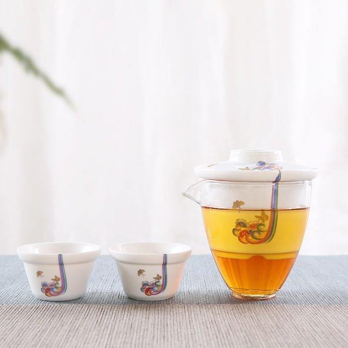 陶瓷家用旅行茶具套裝 簡約快客杯一壺二杯隨身便攜戶外#茶具#旅行茶具#茶具套裝#便攜