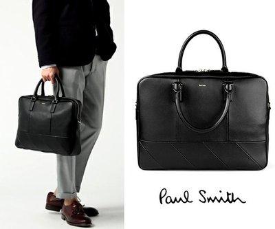 Paul Smith 黑色真皮手提包 肩背包 公事包 100%全新正品 特價!