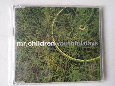 首版二手單曲CD ~Mr.Children小孩先生(youthful days )CD保存良好有極少細紋不影響音質
